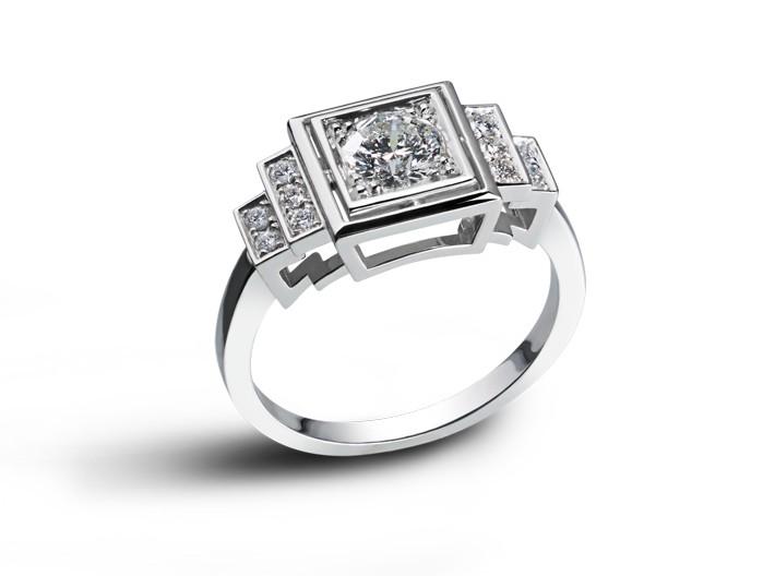 Sehr Bague-art-deco-or-blanc-diamants-1920 XL58