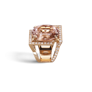 BAGUE EPURE MORGANITE