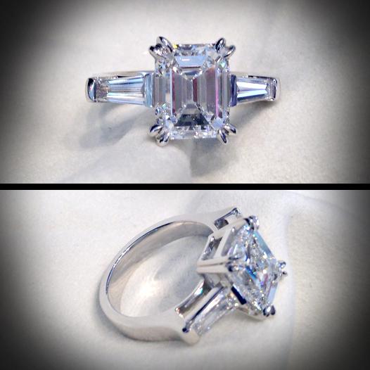 solitaire diamant emeraude