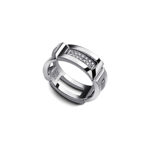 BAGUE EPURE HOMME PAVEE