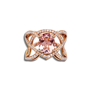 BAGUE MEANDRE MORGANITE